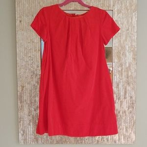 Girls JCrew crewcuts orange corduroy dress size 7